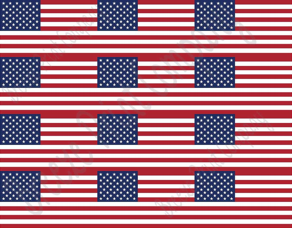 This is a picture of Lucrative Printable American Flag