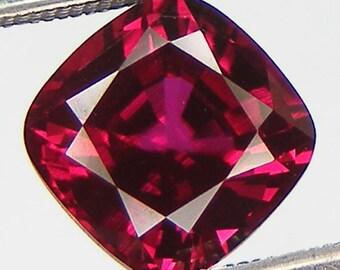 Excellent Cut Loose Ruby Cushion 8 x 8 mm Pigeon Blood red ruby Lab corundum Lab Created Loose Gemstones