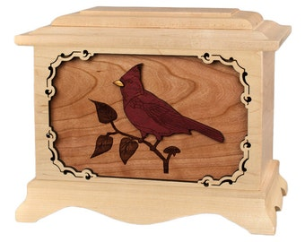 Maple Cardinal Ambassador Wood Cremation Urn