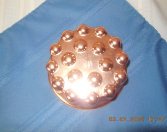 Vintage copper jello mold