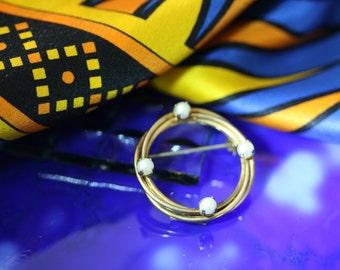 Alice Caviness 12k GF Pearl Circle Pin