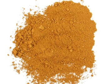 Raw Sienna Pigment Powder for Artist Paints, Ink, Stamp Pads and other Craft Projects