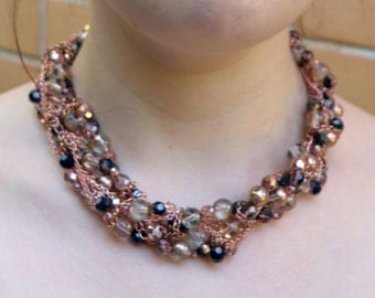 Rose Gold Statement Necklace
