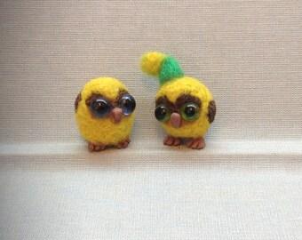Miniature Needle Felted Owl, Miniature Owl, Tiny Owl, Needle Felted Owl, Miniature animal