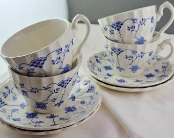 Myott Finlandia Staffordshire 4 Teacups, 4 Saucers, England