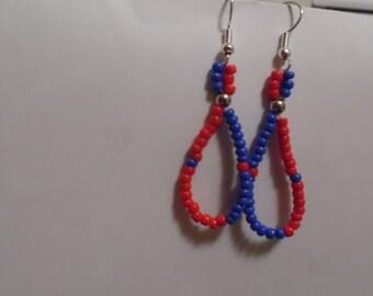 Loop Earrings with Matching Bracelet