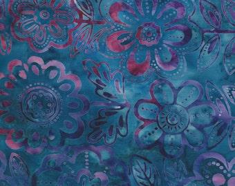 Jewel Blue, Pink and Purple Batik Fabric