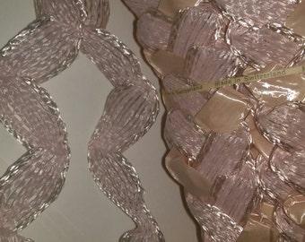 LoT of 15 hanks Vintage Easter Pink Braided  Ribbon