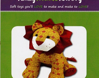 LARRY THE LION - Stuffed Soft Toy Lion  ~  By: Funky Friends Factory