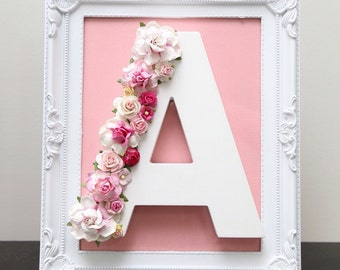 Décor letter with frame- handcrafted and designed by LBDF