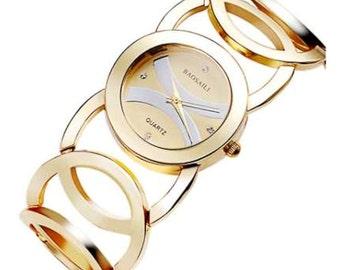 Gold Bracelet Watch Stainless Steel