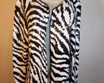 FREE  SHIPPING   Vintage  1980  Sequin  Coat