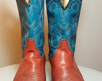 FREE  SHIPPING  Vintage Double H Western Boots