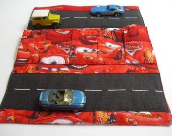 Toy Car Carrier with Road - Toy Car Carrier - Toy Car Wallet - Gift for Boy - Personalized - Cars - Hotweel Toy Carrier -Fold Up Car Carrier