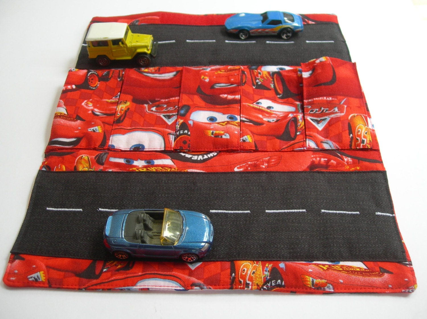 Toy Car Rack : Toy car carrier with road wallet
