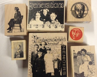 Vintage Looking Rubber Stamps