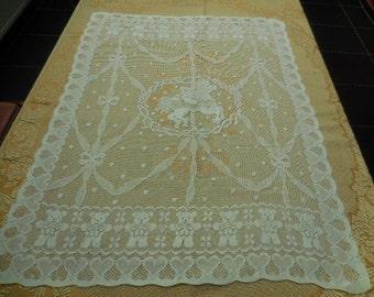 A Vintage Belgian Lace Panel