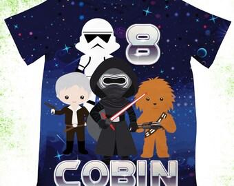 Personalized inspired star wars t-shirt, inspired  kylo ren shirt, inspired star wars bodysuit, inspired star wars birthday shirts,