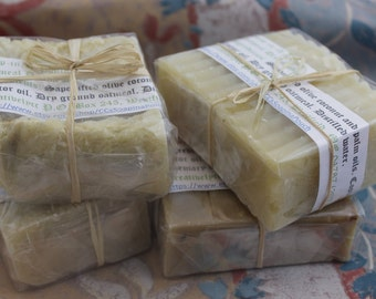 Set of Four Large Bars of Handmade Soaps