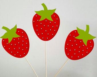 Strawberry Centerpieces