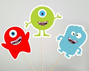 Monster Centerpieces, Monster Birthday Centerpieces, Monster Party Centepieces