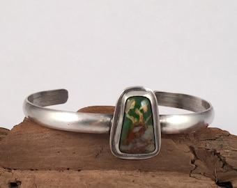 Turquoise Bracelet, Sterling Silver Cuff, Turquoise Cuff, Sterling Silver Bracelet, Silver Cuff, Stacking Bracelet, Silver Bangle
