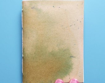 Chartreuse Hand-Dyed Notebook//Pocket Sized