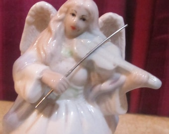 Bell porcelain Angel playing the  violin