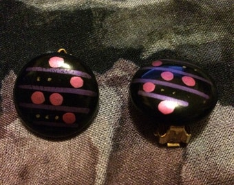 Vintage 1980s New Wave Deco Clip On Earrings