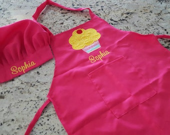 Child's personalized apron and chef hat