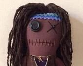 "Creepy n Cute Zombie Doll - ""Michonne"" - Inspired by TWD (D)"