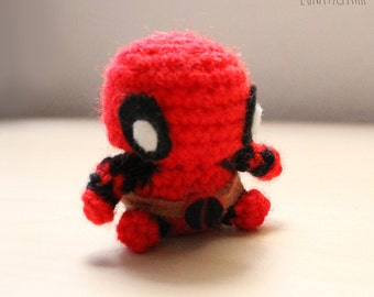 Amigurumi chibi deadpool plush
