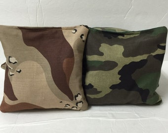Camo Cornhole Bags Army Hunter Desert Sand Camouflage Corn hole Bags Baggo Bean Bags Set of 8
