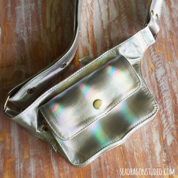 holographic leather festival belt burning by
