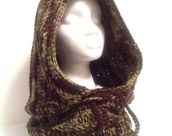 Ready to ship scoodie, hooded cowl, hooded scarves,  faerie hooded cowl, wool cowl