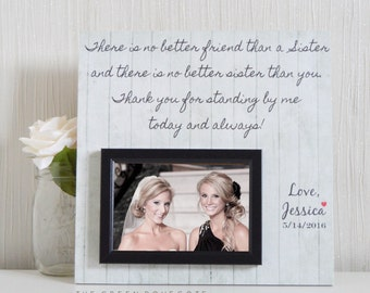 Bridesmaid Gift - Wedding Gift For Bridesmaids - Bridesmaid Proposal - Bridal Party Gift - Personalized Picture Frame - Will You Be My