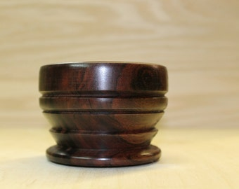 Turned wooden bowl