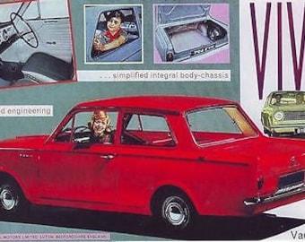 Vintage Vauxhall Viva Advertising Poster A3 Reprint