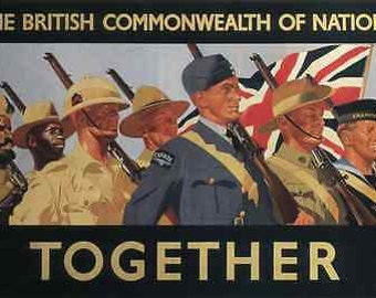 World War 2 British Commonwealth Military Poster A3 / A2 Print