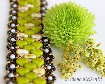 PDF tutorialbeaded bracelet_silky beads_beadweaving_silky beads pattern