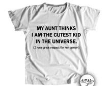 Cutest Kid, Aunt and Niece, Aunt and Nephew, Gift for Newphew, Gift for Niece, Aunt Announcement, Baby Nephew, Baby Niece, Nephew Birthday