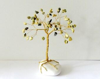 Wire tree, Natural Turquoise sagittarius wire tree , gem tree, wire tree of life, wire tree sculpture, gemstone tree, December birthstone