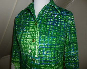 Vintage Leslie Fay Funky Two piece skirt with jacket / 1960s 1970s