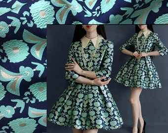 SALE, Jacquard fabric Dress Skirt Dress Fabric Brocade fabric -XIAOM - 145 cm wide x 50 cm