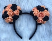 Halloween Floral Mouse Ears