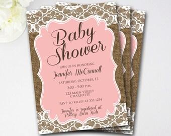 Elegant Burlap Baby Shower   Etsy