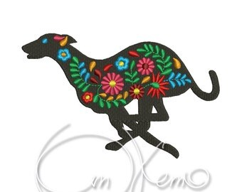 MACHINE EMBROIDERY DESIGN - Mexican Whippet, Calavera, Dia de los muertos, Mexican design, Halloween design, calavera dog, Day of the dead