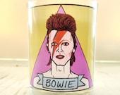 David Bowie Glass Votive Candle // LGBTQ Altar Candle