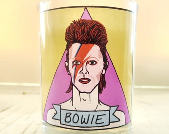 David Bowie Glass Votive Candle // LGBTQ Altar Candle