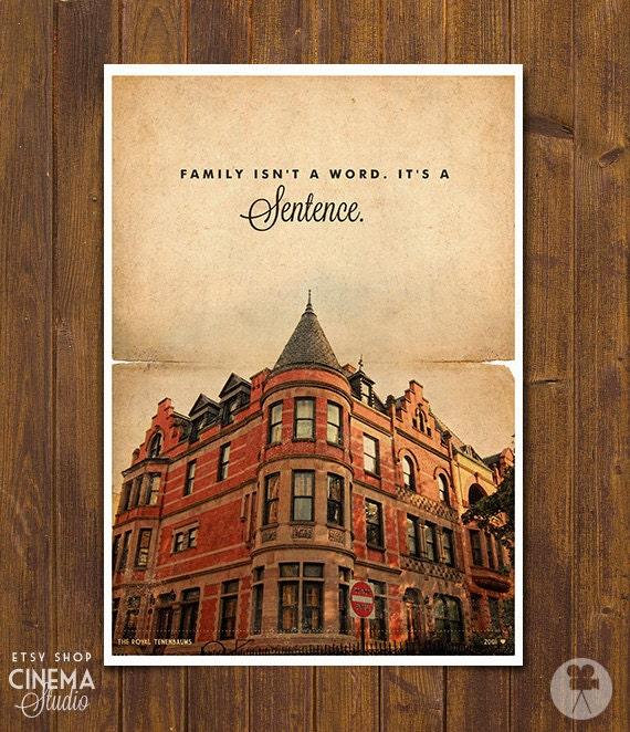the royal tenenbaums wes anderson movie poster by cinemastudio